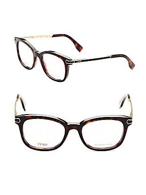48MM Tortoiseshell Wayfarer Optical Glasses
