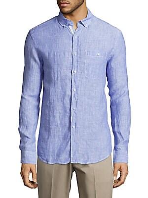 Classic-Fit Linen Shirt