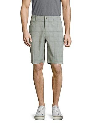 Windowpane Pattern Shorts