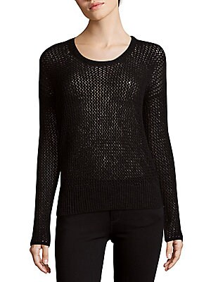 Long-Sleeve Open-Stitch Top