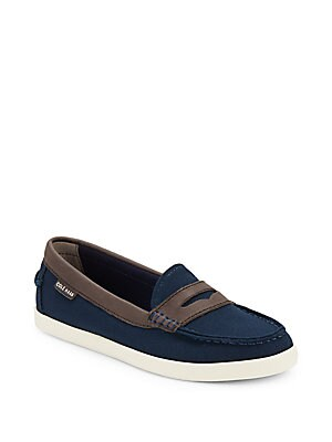 Canvas Penny Loafers