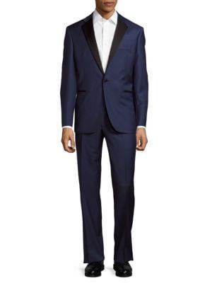 Textured Wool Tuxedo Suit Yves Saint Laurent