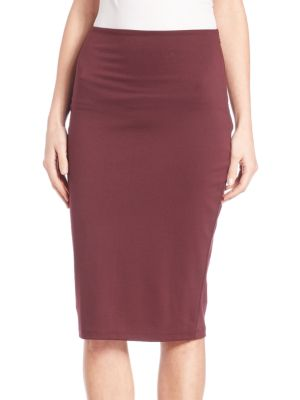 High Lux Ponte Pencil Skirt Alexander Wang