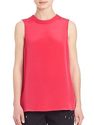 31 phillip lim female silk sleeveless top