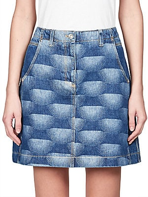 Nagai Star Denim Skirt