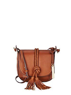 Leather Saddle Crossbody Bag