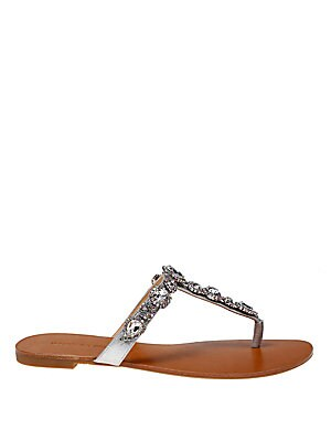 Cliche Metallic Leather Sandals