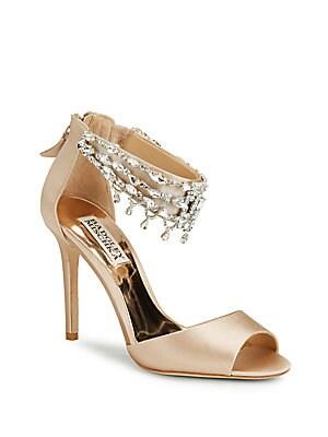 Denise Latte Leather Stiletto Sandals