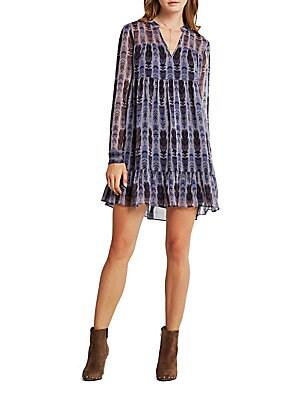 Solid Printed Dress