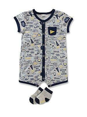 Baby's Two-Piece Traveler Romper & Socks Set