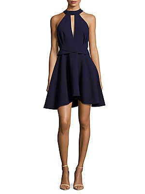 Aerial Halterneck Sleeveless Dress