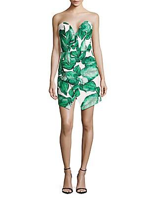 Palm Leaf Printed Dress
