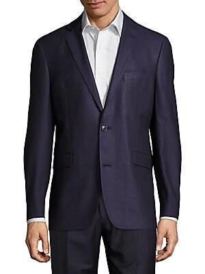 Solid Silk & Wool Sportcoat