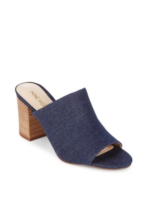Gallahan Slip-On Mules Nine West