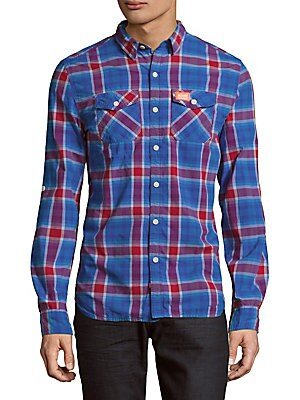 Slim-Line Tonal Check Shirt