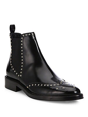 Bactonul Studded Leather Chelsea Boots