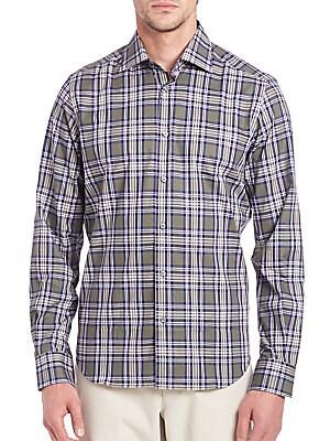 Windowpane Plaid Shirt