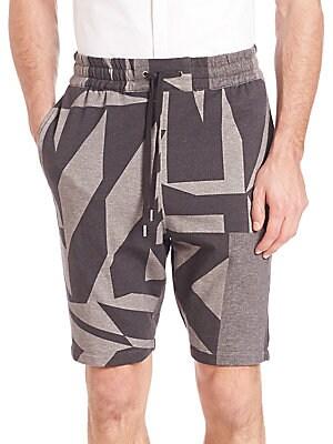 Printed Drawstring Shorts