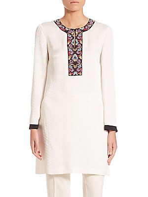 Long Sleeve Embroidered Caftan