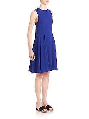 Tie-Back Pleated A-Line Dress