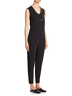 Falabella Chain-Detail Sleeveless Jumpsuit