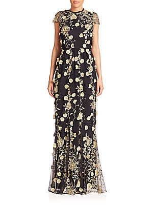 Aaliyah Embroidered Gown