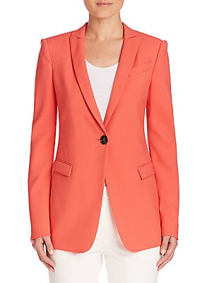 Textured Stretch Wool Jacket