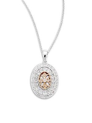 Click here for Diamond  14K White & Yellow Gold Pendant prices