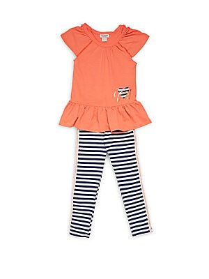 Girl's Two-Piece Top & Leggings Set
