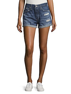 Cotton Denim Shorts