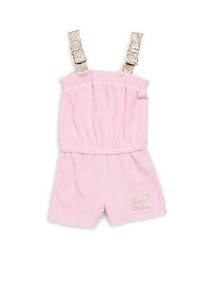 Baby's Straight-Across Cotton-Blend Romper