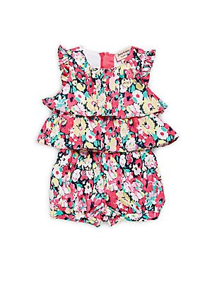 Baby Girl's Floral-Print Romper
