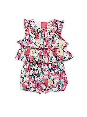 Baby Girl's Floral-Print Romper
