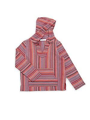 Little Boy's & Boy's Long-Sleeve Striped Hoodie