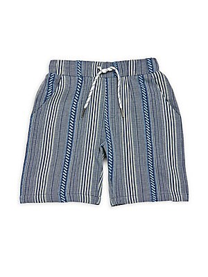 Little Boy's & Boy's Striped Cotton Shorts
