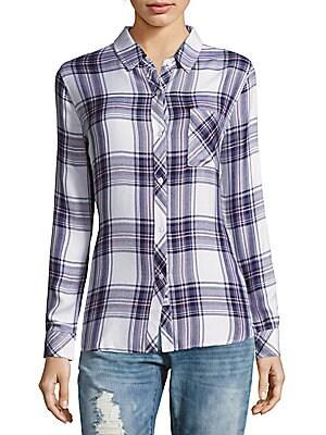 Button-Down Windowpane Shirt