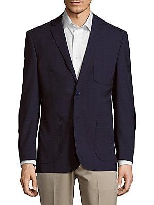Modern Fit Wool Subtle Plaid Sportcoat