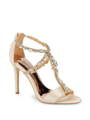 Georgia Embellished Stiletto Sandals Badgley Mischka