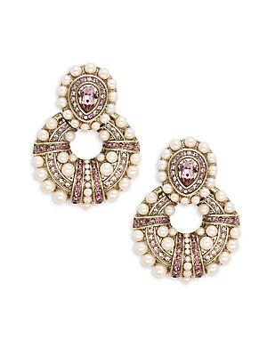Door Knocker Crystal & Rhinestone Earrings