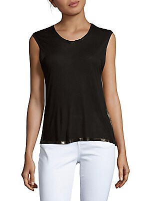 Gipsy Solid Sleeveless Top