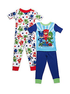 Little Boy's Four-Piece Printed Pajama Set