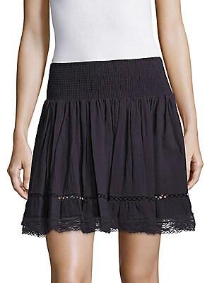 Gauze Ruche Lace Skirt