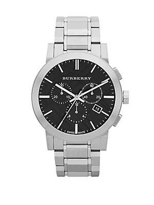 Brushed Stainless Steel Chronograph Watch
