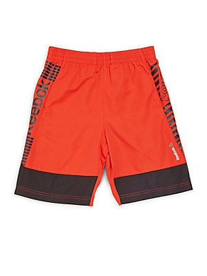 Boy's Large Printed Colorblock Athletic Shorts