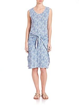 Shibori Wrap Dress