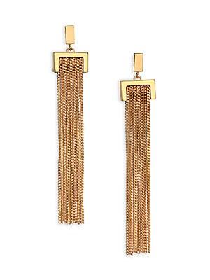 Delfine Chain Tassel Earrings