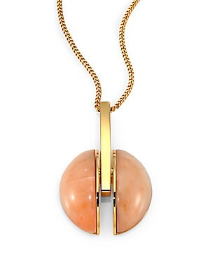Ellie Pink Marble Pendant Necklace