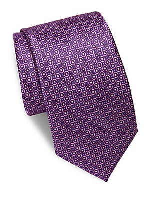 Geometric Printed Silk Tie