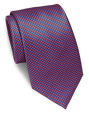 Mini Checked Silk Tie