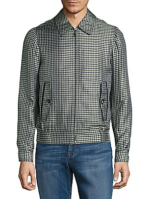 Checkered Long-Sleeve Jacket